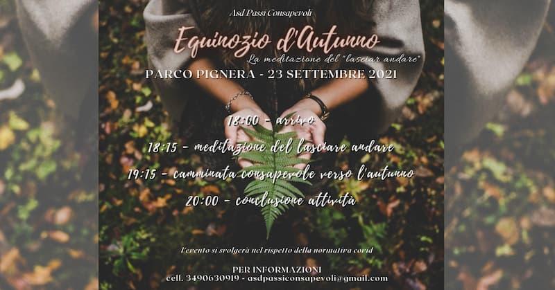 Equinozio d'Autunno - La meditazione del lasciar andare 23 settembre 2021 Crotone locandina