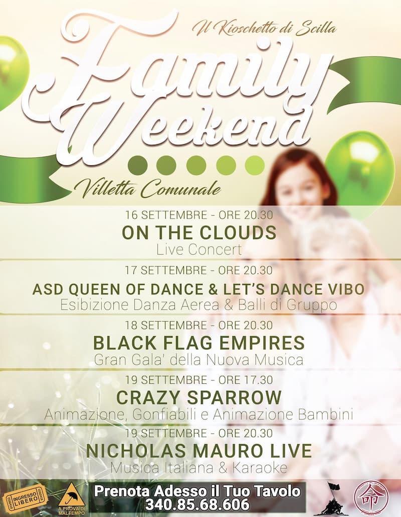Family Weekend Villetta Comunale Scilla 16 - 19 settembre 2021 Scilla locandina