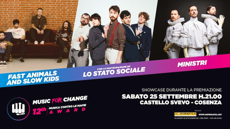 Music for Change 25 settembre 2021 Cosenza locandina