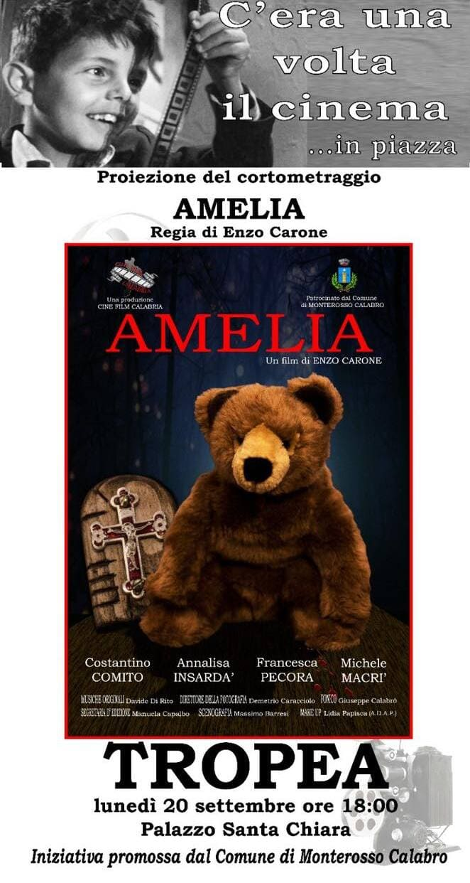 Proiezione del cortometraggio Amelia, regia Vincenzo Carone 20 settembre 2021 locandina