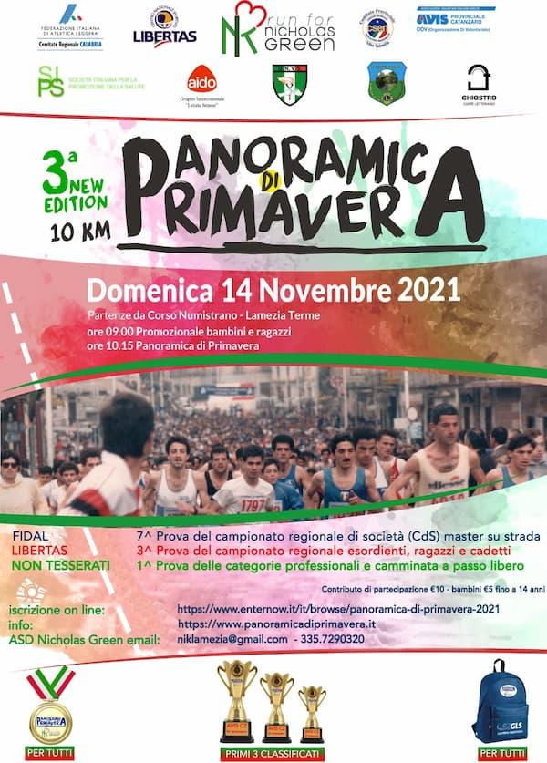 3° new edition Panoramica di Primavera 14 novembre 2021 Lamezia Terme locandina
