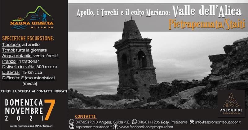 Apollo, i Turchi e il culto Mariano Valle dell'Alica 7 novembre 2021 Staiti