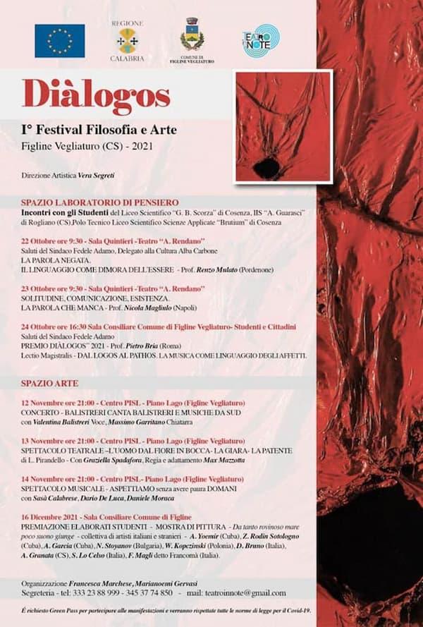 Diàlogos festival di Filosofia e Arte Figline Vegliaturo 2021